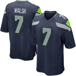 Nike Blair Walsh Seattle Seahawks Youth Game Navy Team Color Jersey
