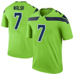 Nike Blair Walsh Seattle Seahawks Youth Legend Green Color Rush Neon Jersey