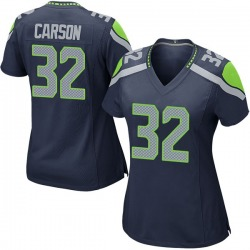 Nike Chris Carson Seattle Seahawks Women's Game Navy Team Color Jersey