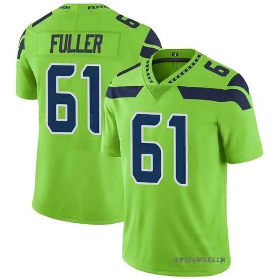 Nike Kyle Fuller Seattle Seahawks Youth Limited Green Color Rush Neon Jersey